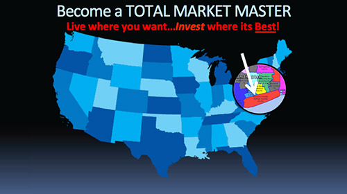 Become a Total Market Master - Live Where You Want... Invest Where Its Best