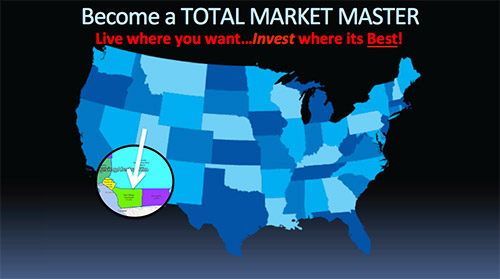 Map showing that by using the Market Screener or the new S.T.A.R.filter, San Diego, California is the next hot appreciating investing market.