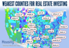 22 Weakest  COUNTIES for Real Estate Investing