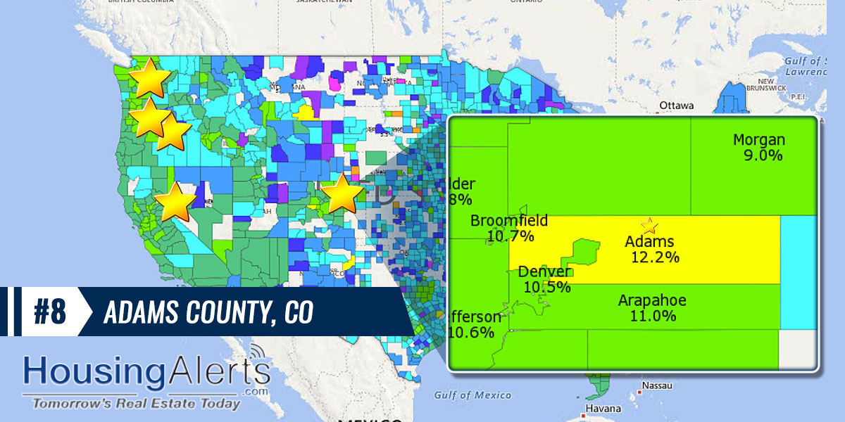 Hottest Counties for Real Estate Investing #8 Adams County, Colorado