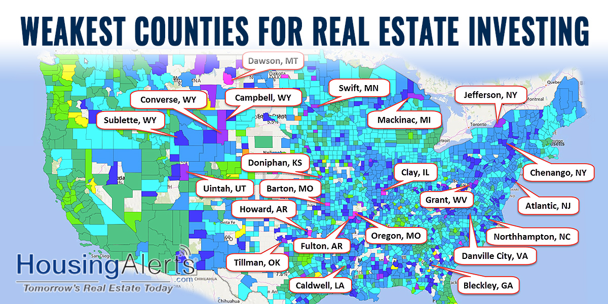 Weakest COUNTIES for Real Estate Investing