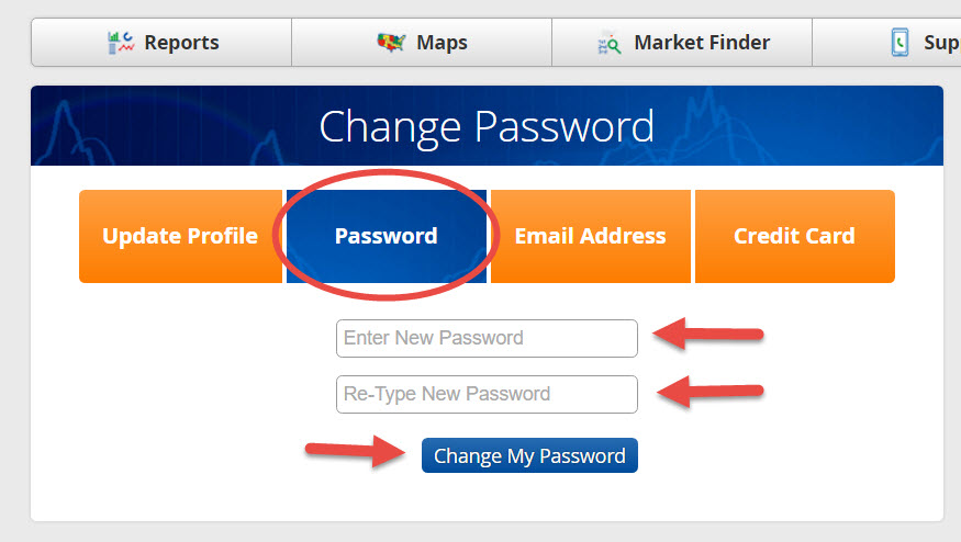 Change My Password - Step 2