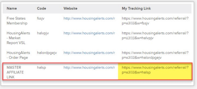 Which link do I use to promote HousingAlerts?