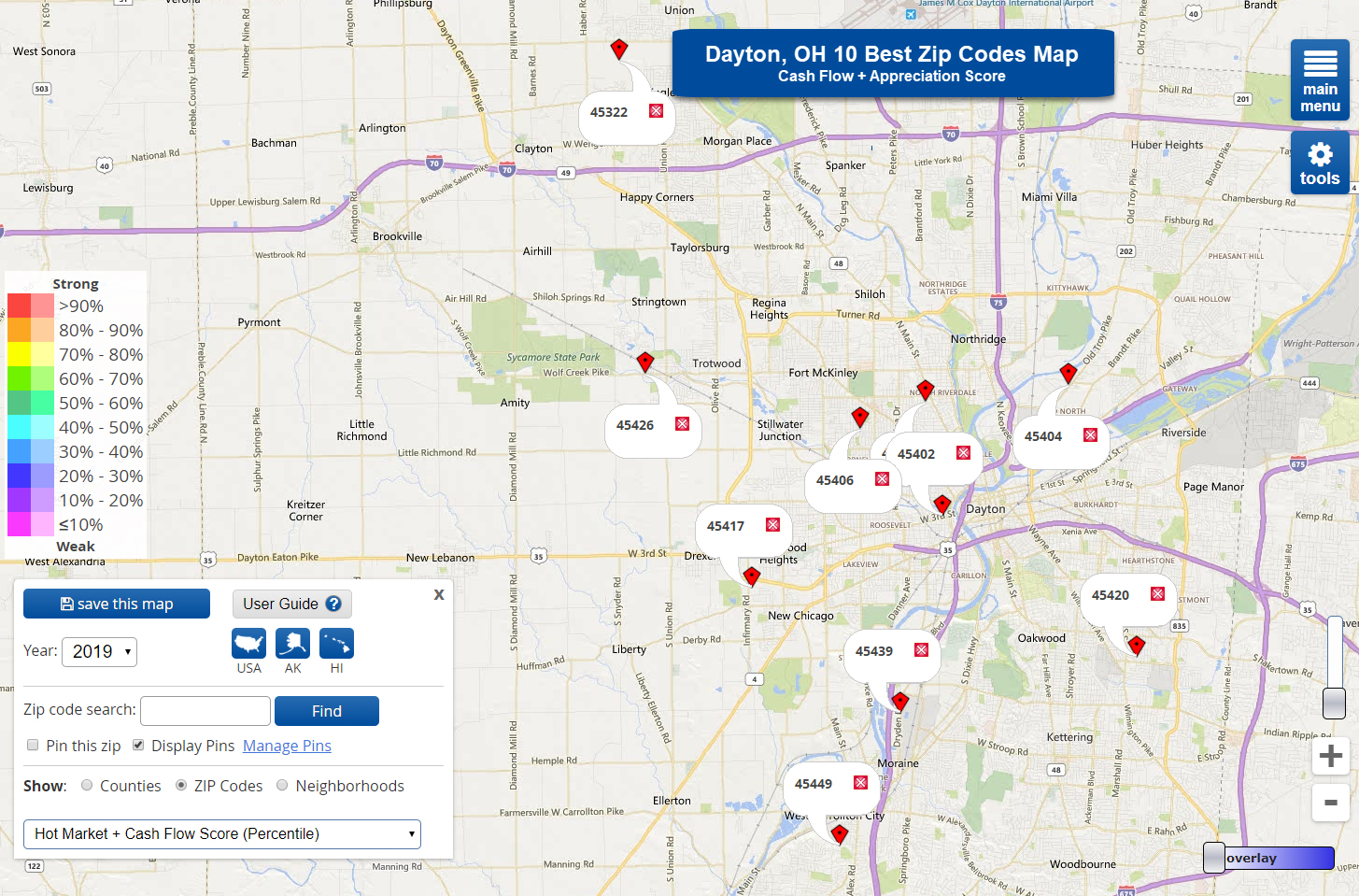 10 Best Zip Codes for Real Estate in Dayton, OH